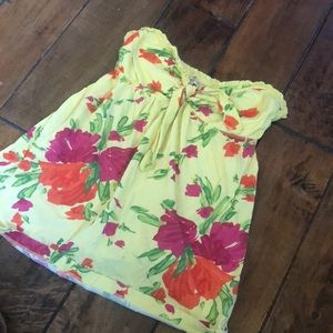 Floral Sweetheart neck Tube Top.